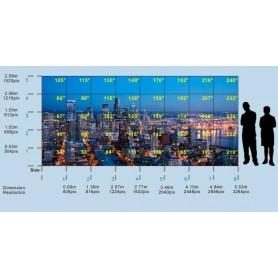 """Mur d'image en fibre optique de 34"""" à 240"""" : LiTile"""