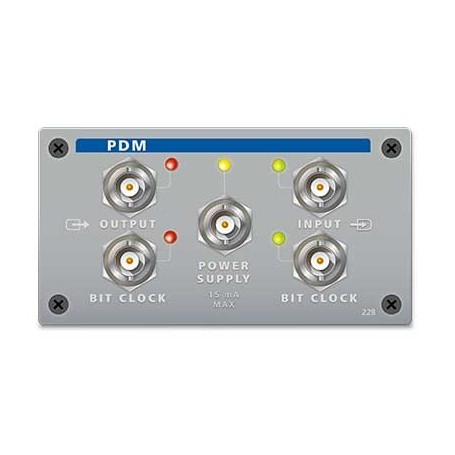 Analyseur audio PDM : option PDM