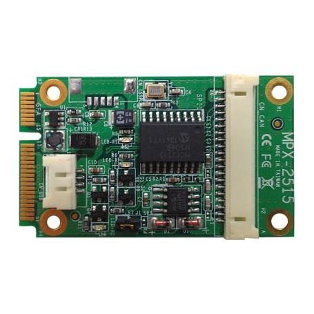 PCI Express mini card support CAN 2.0B : MPX-2515