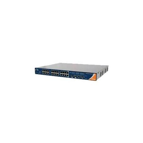 Industrial Rack-Mount Gigabit PoE Ethernet Switch, 26ports : RGPS-92222GCP-NP