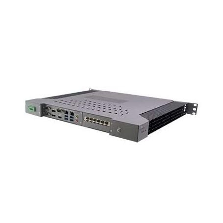 "19"" 1U Rack-mount Intel Skylake Fanless Rugged System -20 +60°C : ROC249A"