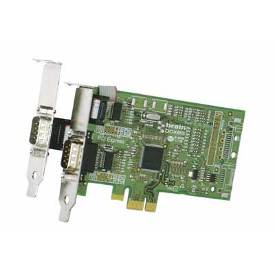 Carte PCI Express Low Profile 1+1 Ports RS232 : PX-101 -> BRAINBOXES