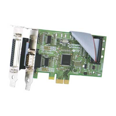 Carte PCI Express Low Profile 1+1 Ports RS232 : PX-203 -> BRAINBOXES