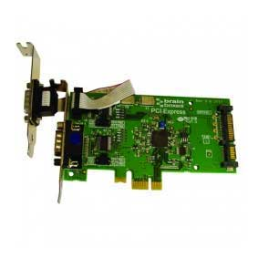 Carte PCI Express Low Profile 1 Port RS-232 Autoalimenté (par un connecteur d'alimentation SATA) 1 POS Amp : PX-803 -> BRAINBOXES