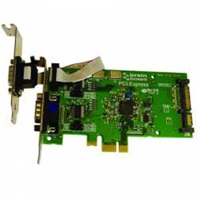 Carte PCI Express 1 Port RS-232 Autoalimenté (par un connecteur d'alimentation SATA) 1 Amp POS : PX-846