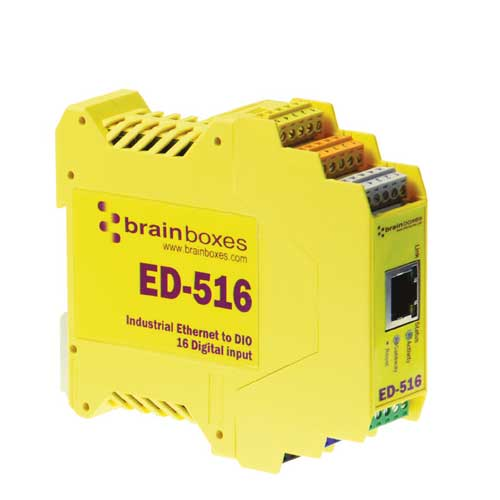 Convertisseur Ethernet � 16 entr�es digitales et 1 port s�rie : ED-516 -> BRAINBOXES