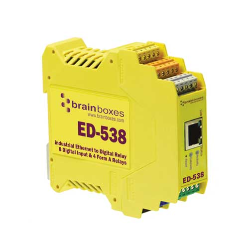 Convertisseur Ethernet � 4 relais digitaux et 8 entr�es digitales : ED-538 -> BRAINBOXES