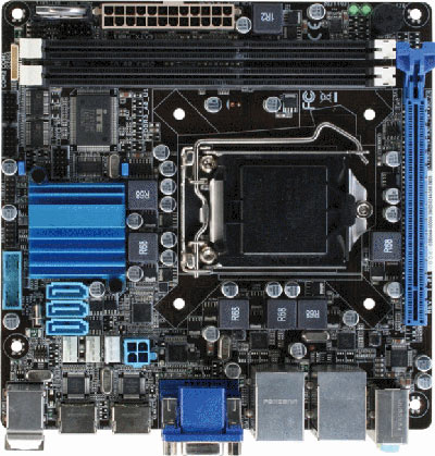 Mini-ITX Embedded Motherboard with Intel 2nd/3rd Generation Core i7/ i5/ i3 Processor : EMB-B75A -> AAEON