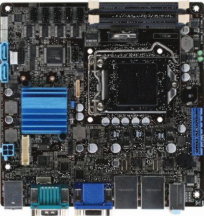 Mini-ITX Embedded Motherboard with Intel 2nd/3rd Generation Core i7/ i5/ i3 Processor : EMB-H61B