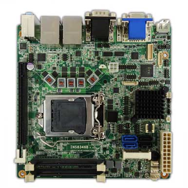 Intel Ivy Bridge Q77 Mini-ITX Industrial MB, Wide Temp. -20 to 70�C : INS8346B -> PERFECTRON