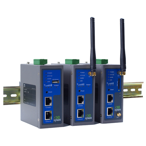 Modem industriel RS-232 / RS-485 / Ethernet vers HSUPA / GSM : InRouter700 -> INHAND NETWORKS