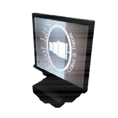 "Ecran double face carré 27"" : SSC2715 (Double Side Square LCD Display) -> LITEMAX"