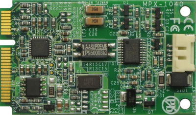 PCI Express mini card features 56K modem : MPX-1040 -> COMMELL