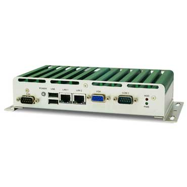 Intel Tunnel Creek E660T, Wide Temp. Fanless Rugged System : ROC114A