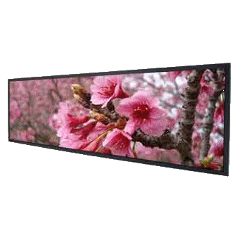 38� Resizing LCD, 2000 nits LED Ultra High Brightness, 1920x502 ultra wide aspect ratio 16:4.2 : SSF3840 -> LITEMAX