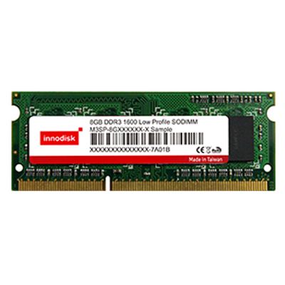 Very Low-Profile (VLP) 1600Mhz/1333Mhz/1066Mhz 204pin : DDR3 SODIMM -> INNODISK