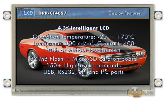 "Module tactile couleur 4.3"" 480 x 272 : DPP-CT4827"