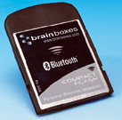 CARTE COMPACTFLASH BLUETOOTH AVEC MANCHON DE CARTE PC EN OPTION : BL-565 -> BRAINBOXES