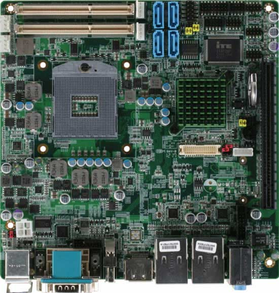 Embedded Motherboard With Intel Core i7/ i5/ Celeron Quad Core/ Dual Core Processor : EMB-QM77
