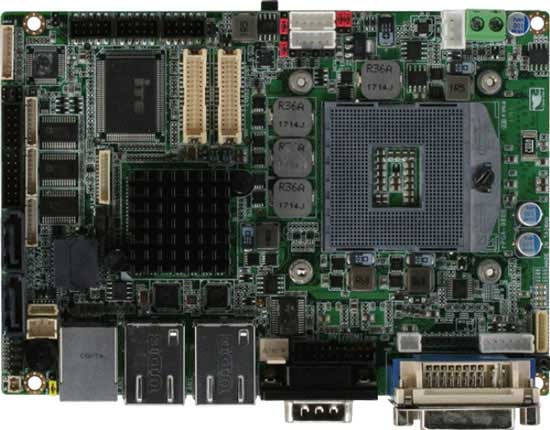 3.5' SubCompact Board witd Intel 3rd Generation Core i7/i5/i3 Mobile Processor : GENE-QM77