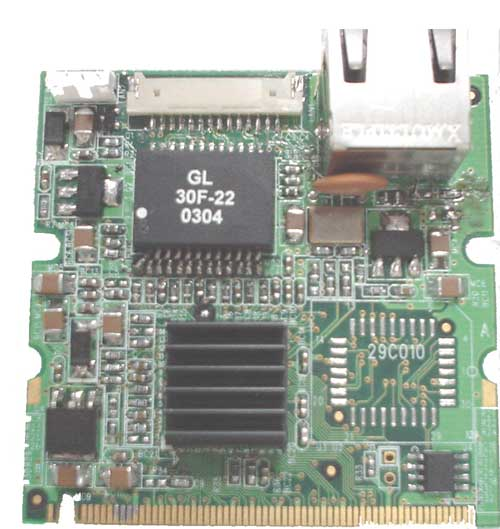 Module Mini PCI fast Ethernet : MP-551 -> COMMELL