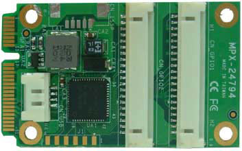 PCI Express mini card support 32-bit GPIO : MPX-24794G -> COMMELL