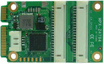 PCI Express mini card support SPI, I2C, 16-bit GPIO : MPX-24794S -> COMMELL