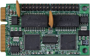 PCI Express mini card support 2 x Giga LAN : MPX-574D2