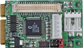 PCI Express mini card support 1 x 24-bit Dual channel LVDS : MPX-SDVOX