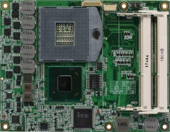 COM Express Type 6 CPU Module witd Onboard Intel Core i7/i5/i3/Celeron Processor (3rd Generation) : COM-QM77 Rev.B