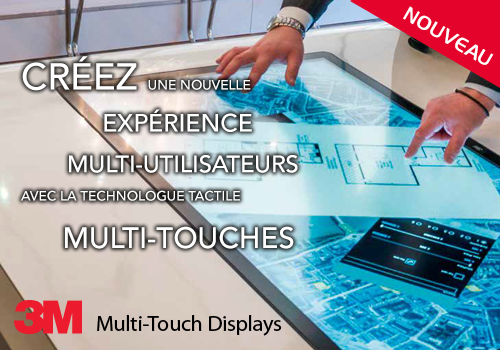 ecran chassis tactile multitouch 3M