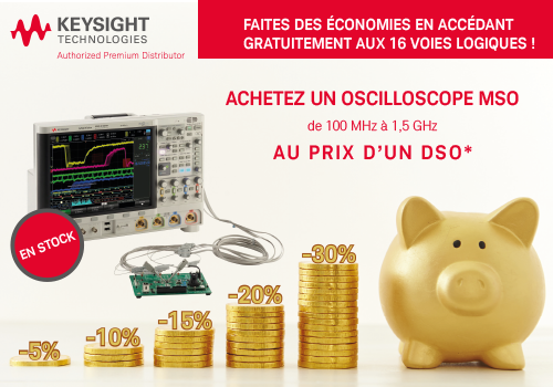 Promotion oscilloscope Keysight