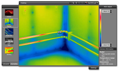 Outil d�analyse d'images infrarouges gratuit en ligne : FLIR Web Viewer -> FLIR SYSTEMS