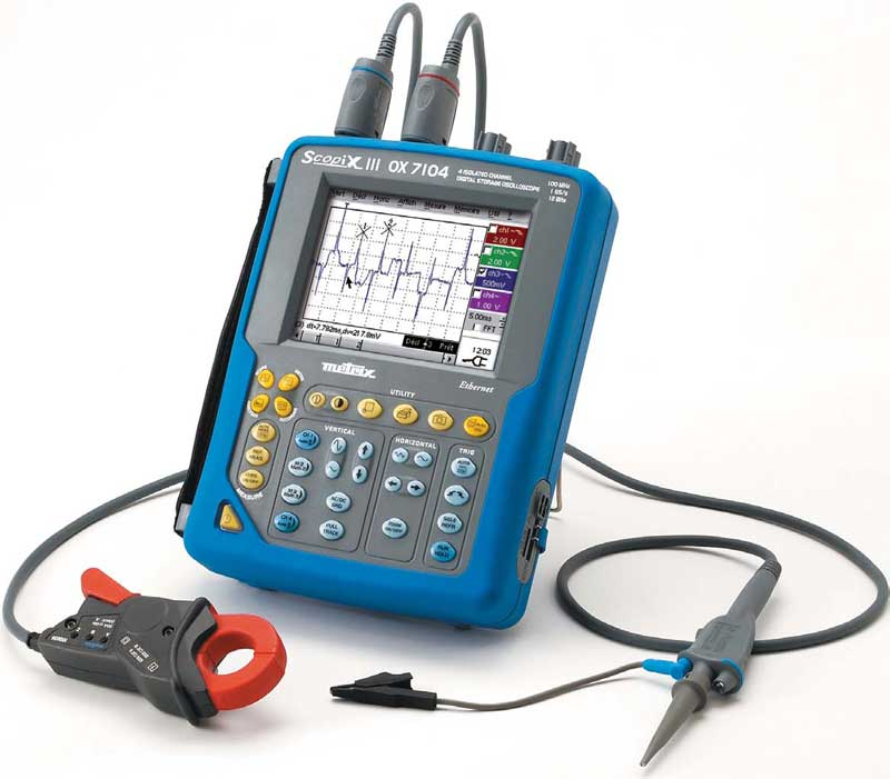 Oscilloscope Portable 2 ou 4 voies de 40 � 200Mhz : Scopix III -> METRIX