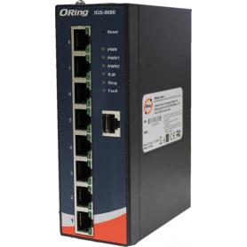 Switch 8 ports Gigabit sur RAIL-DIN : IGS-9080