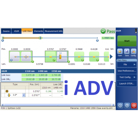 Option pour réflectomètre : iADV IOLM