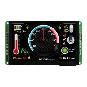 "Afficheur capacitif TFT BUS CAN 5"" : WL0F00050000FGAAASA00"