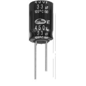 Condensateur éléctrolytique miniature en aluminium : Série MT