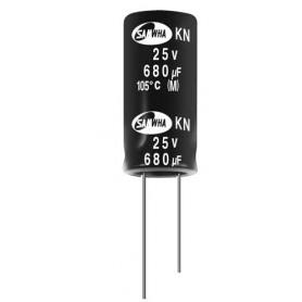 Condensateurs électrolytiques miniatures conformes RoHS : Série KN