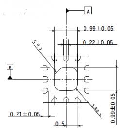 Commutateur SPDT 10 W haute puissance 0,5 - 6,0 GHz : NJG1817ME4