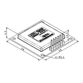 Module capteur de mesure de distance intelligent 24GHz (30 mètres) avec boitier compact : NJR4234 - V ou W