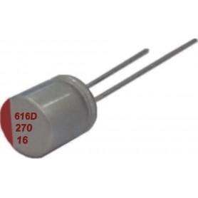 Condensateur Polymère traversant en aluminium : Série PD