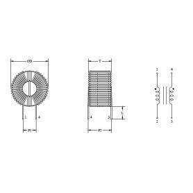 Inductance de mode commun (Noyau Toroidal) : Série CMC