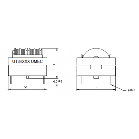 Inductance de mode commun (Noyaux ET & UT) : Série UT346
