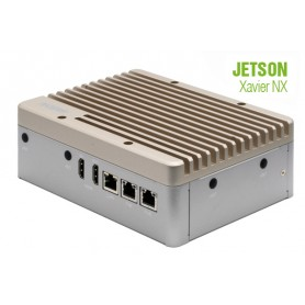 AI@Edge Compact Fanless Embedded BOX PC with NVIDIA Jetson Xavier NX : BOXER-8253AI