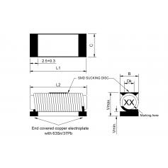 Inductance de puissance type R : Série 06-30