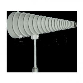 Antenne spirale conique à polarisation (LHCP) fonctionnant de 0.2 GHz à 1 GHz : DS-CP-210-LHCP