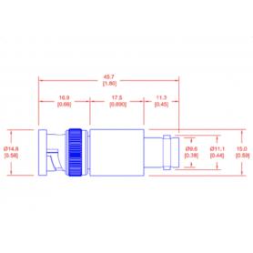 Atténuateur fixe (2 - 20 W) (DC-18 GHz) : Série PFA