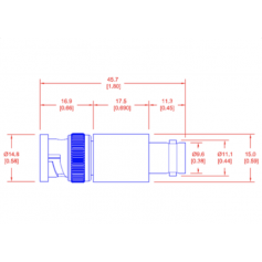 Atténuateur fixe (DC-18 GHz) : Série PFA
