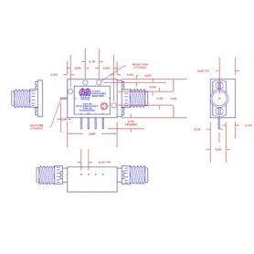 Commutateur état solide SPST (DC-52 GHz) : Série P1T, Série PSWN
